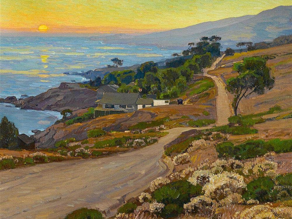 Old Coast Road By William Wendt