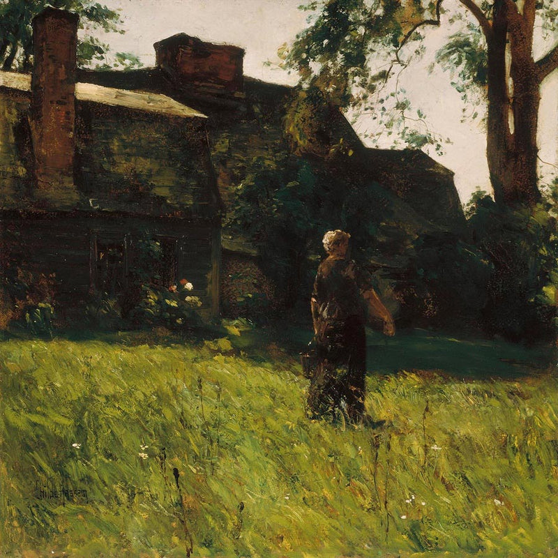 Old Fairbanks House Dedham Massachusetts By Childe Hassam