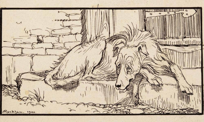 Old Sultan For Grimms Fairy Tales 1900 By Arthur Rackham