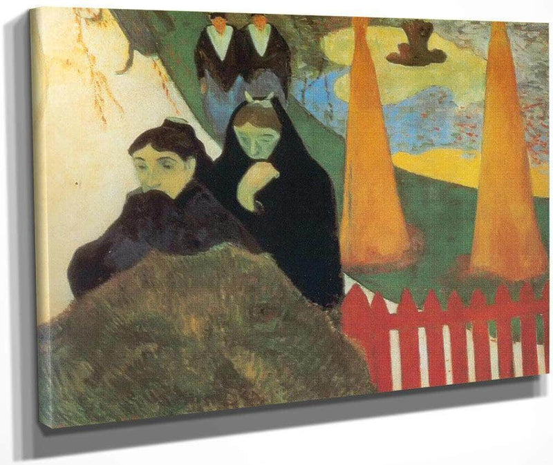 Old Women In Arles ( In The Arles Hospital Garden) By Paul Gauguin