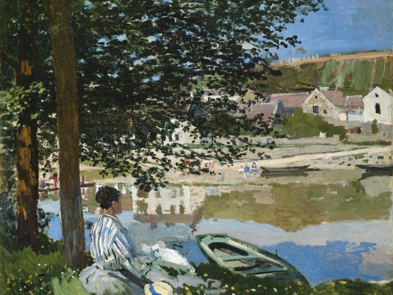 On The Bank Of The Seine At Bennecourt By Monet Claude