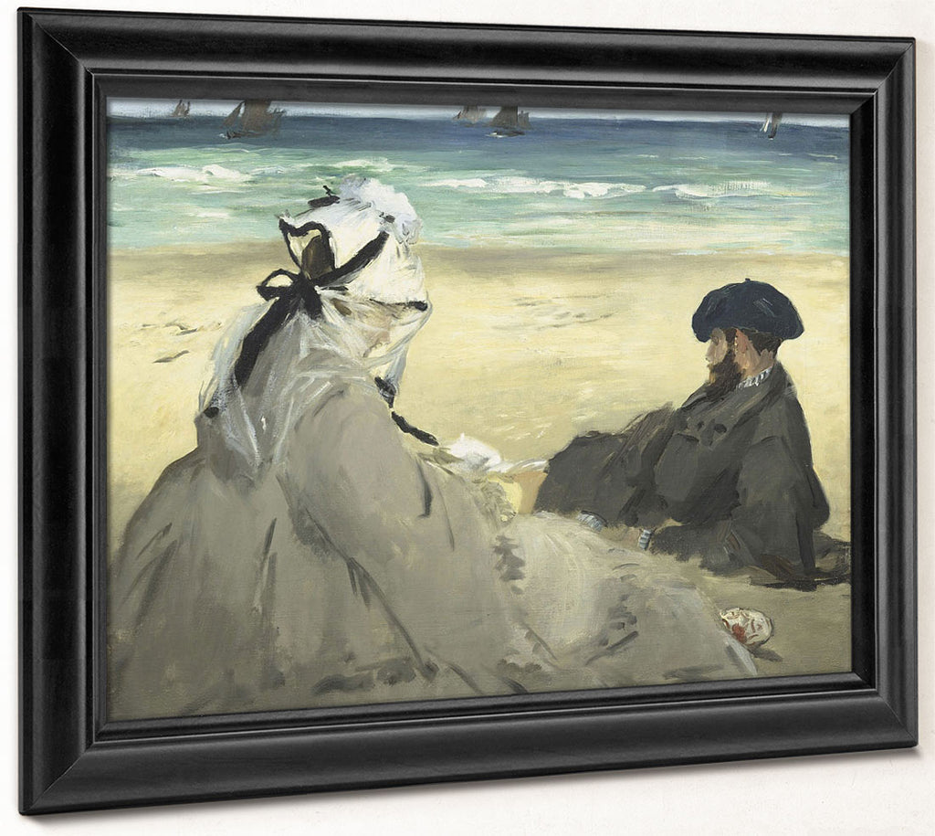 On The Beach 1 By Edouard Manet