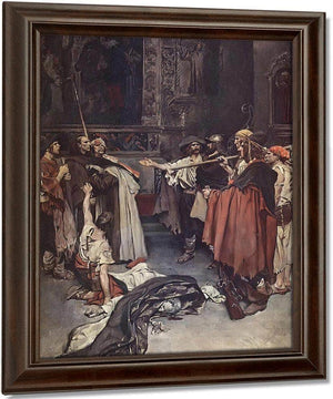 On The Edge Of The Ring Guardded Stood Brother Bartholome And The Carmellte By Howard Pyle