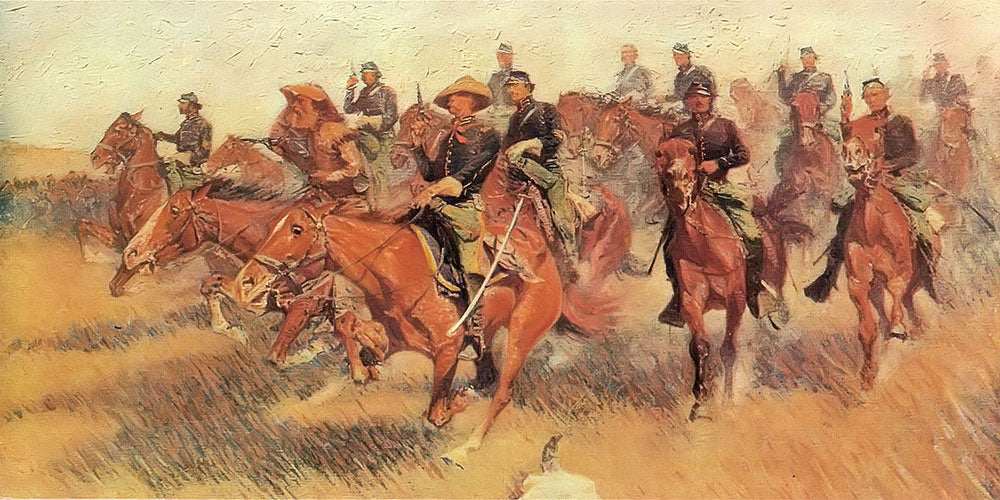 On The Southern Plains Aka The Cavalry Charge By Frederic Remington