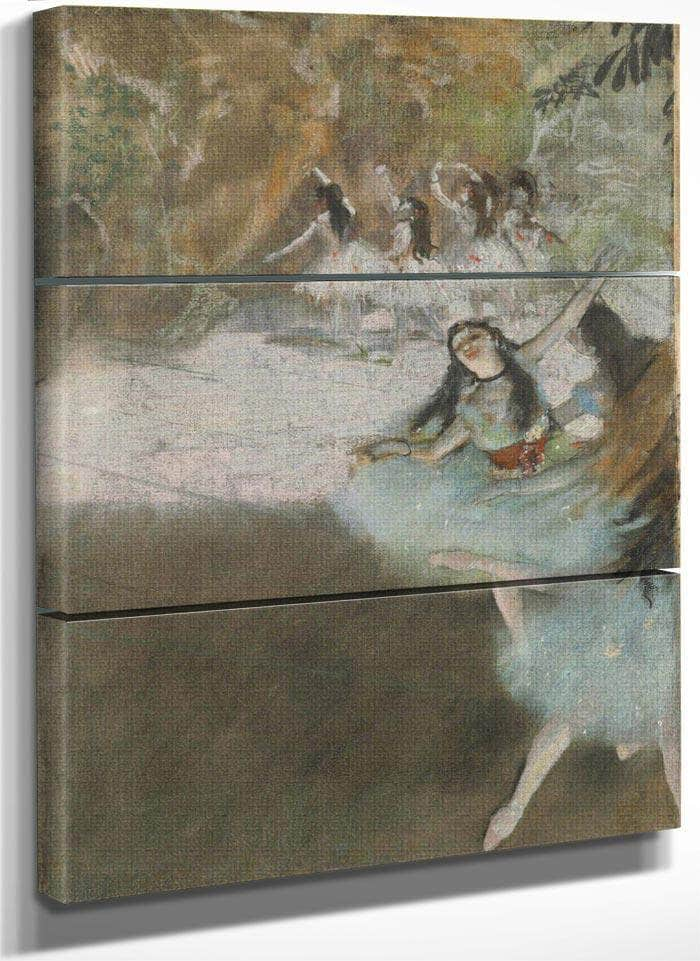 On The Stage By Edgar Degas
