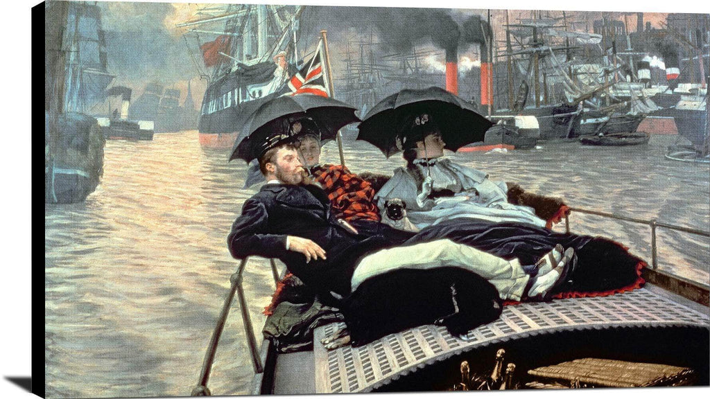 On The Thames Painting James Tissot Canvas Art