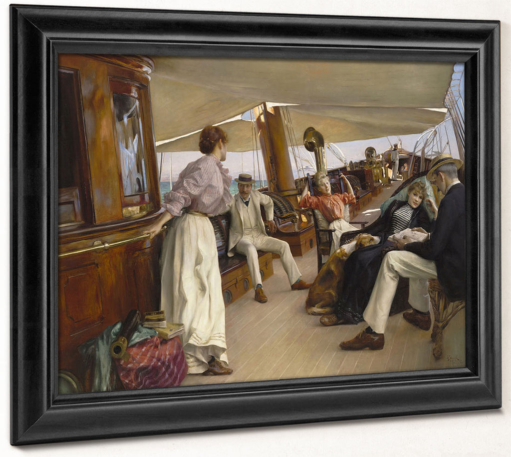 On The Yacht Namouna, Venice By Julius Leblanc Stewart