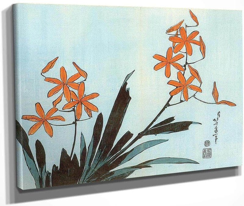 Orange Orchids By Hokusai