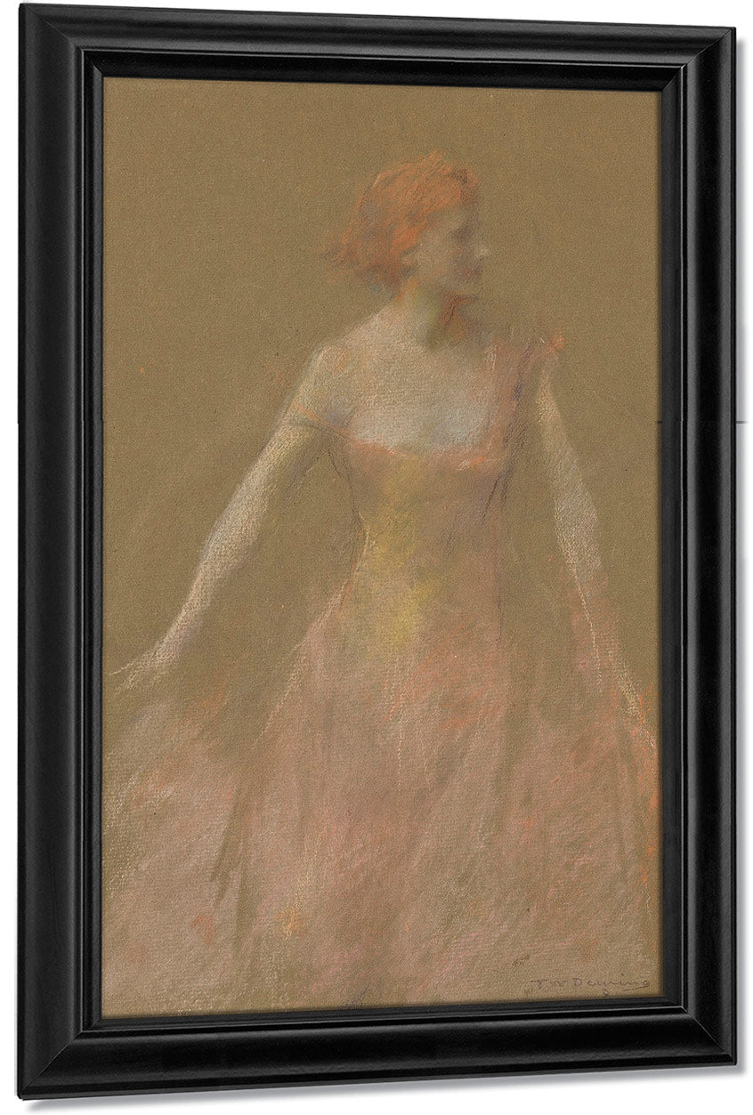 Orange Pink No. 8 By Thomas Wilmer Dewing
