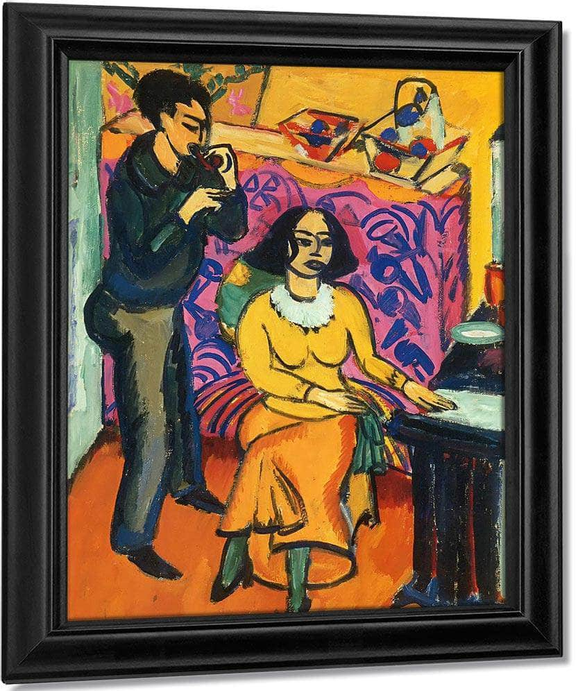 Otto And Maschka Mueller In The Studio By Ernst Ludwig Kirchner
