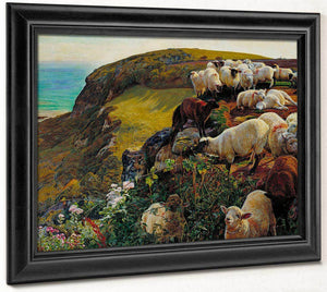 Our English Coasts 1852 Strayed Sheep 43 2X58 4Cm Tate Britain By William Holman Hunt