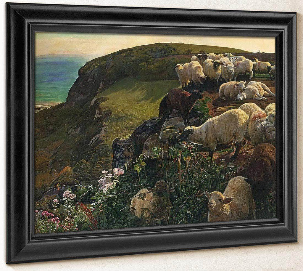 Our English Coasts Strayed Sheep By William Holman Hunt