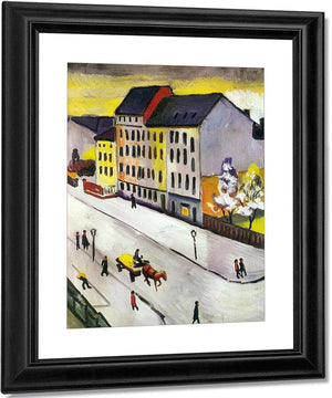 Our Street In Grey By August Macke