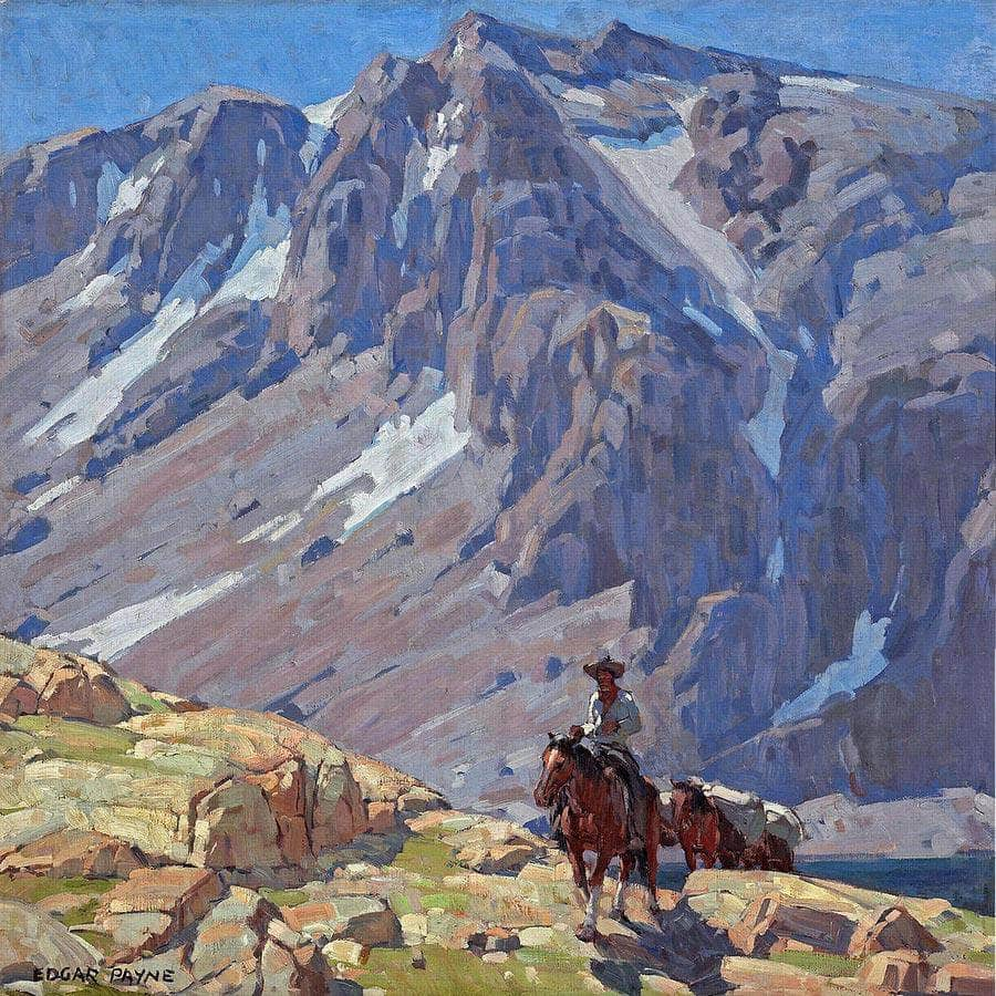 Packing In The Sierras By Edgar Payne