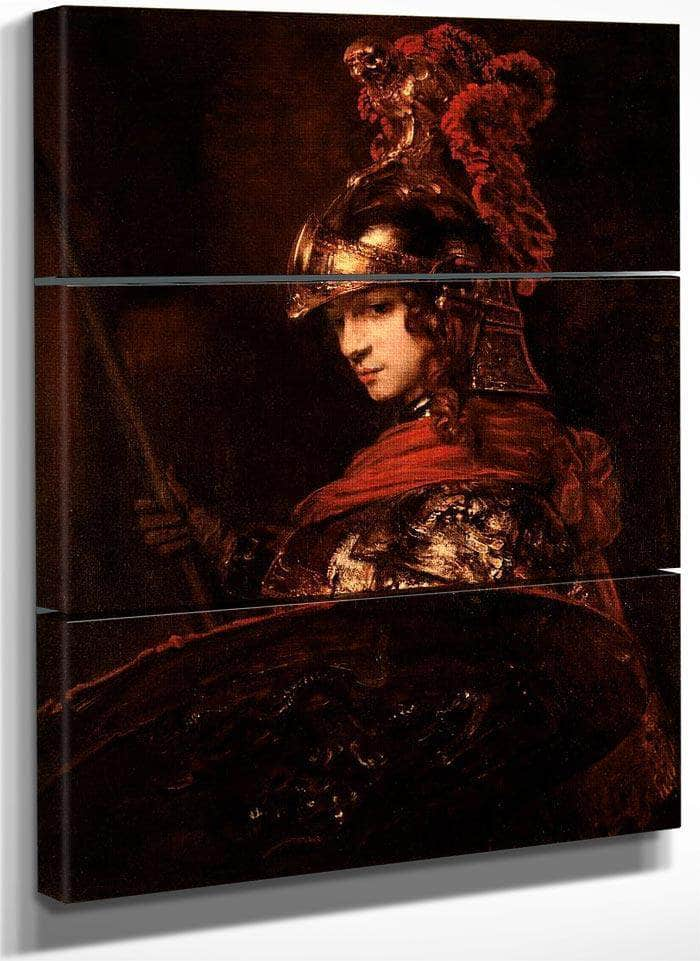 Pallas Athena Or Armoured Figure By Rembrandt