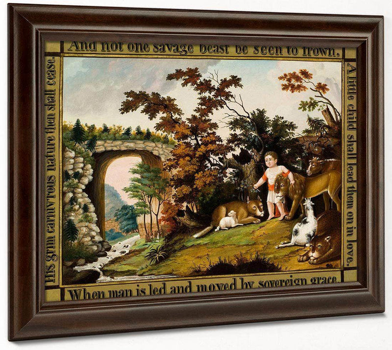 Peaceable Kingdom Of The Branch 1830 By Edward Hicks