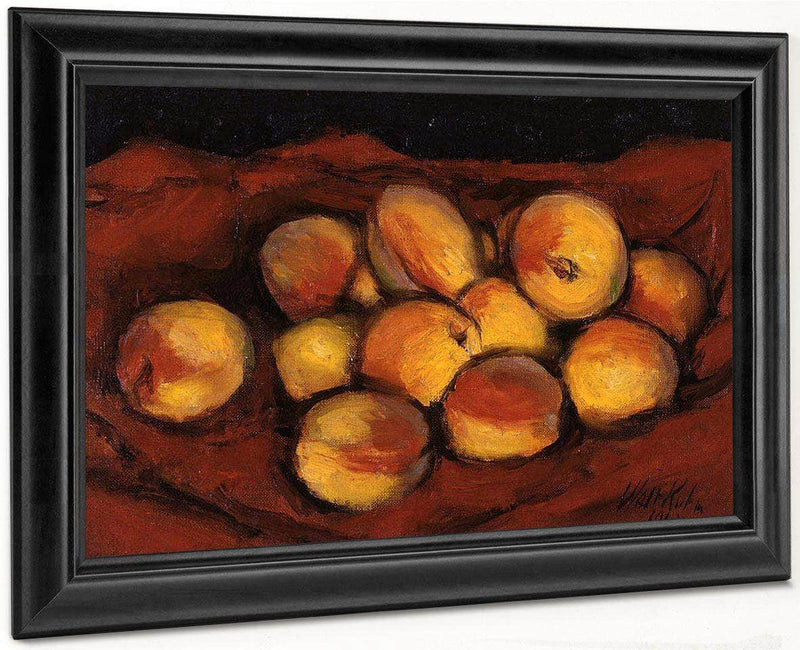 Peaches On Red Cloth By Walt Kuhn