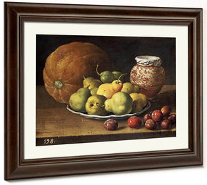 Pears On A Plate By Luis Melendez