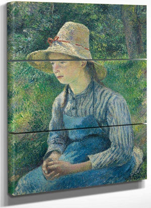 Peasant Girl With A Straw Hat Camille Pissarro