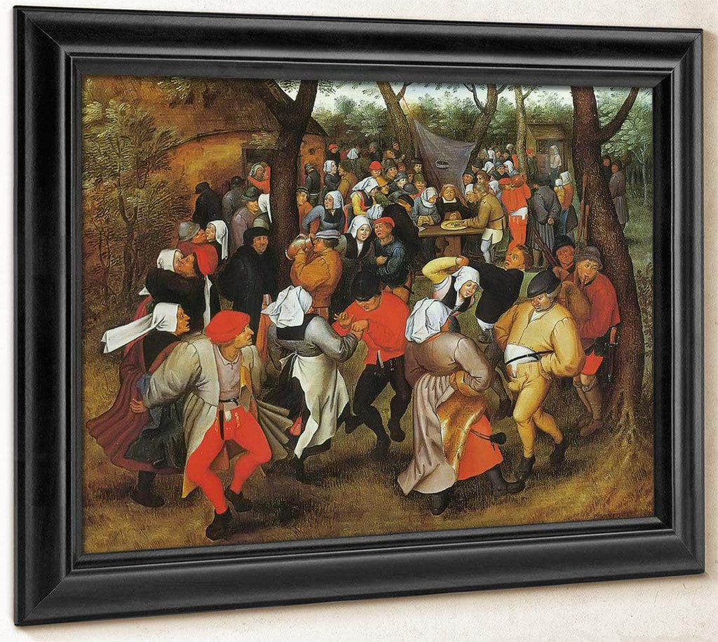 Peasant Wedding Dance 1607 By Pieter Bruegel