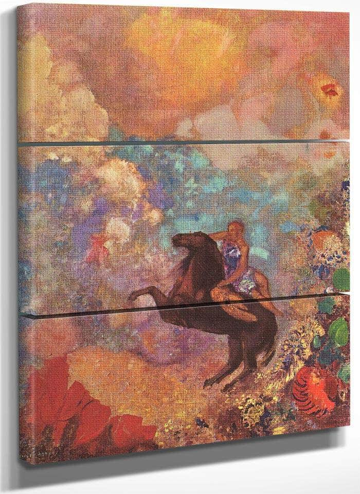 Pegasus And The Muse 1900 73X54Cm Pc By Odilon Redon