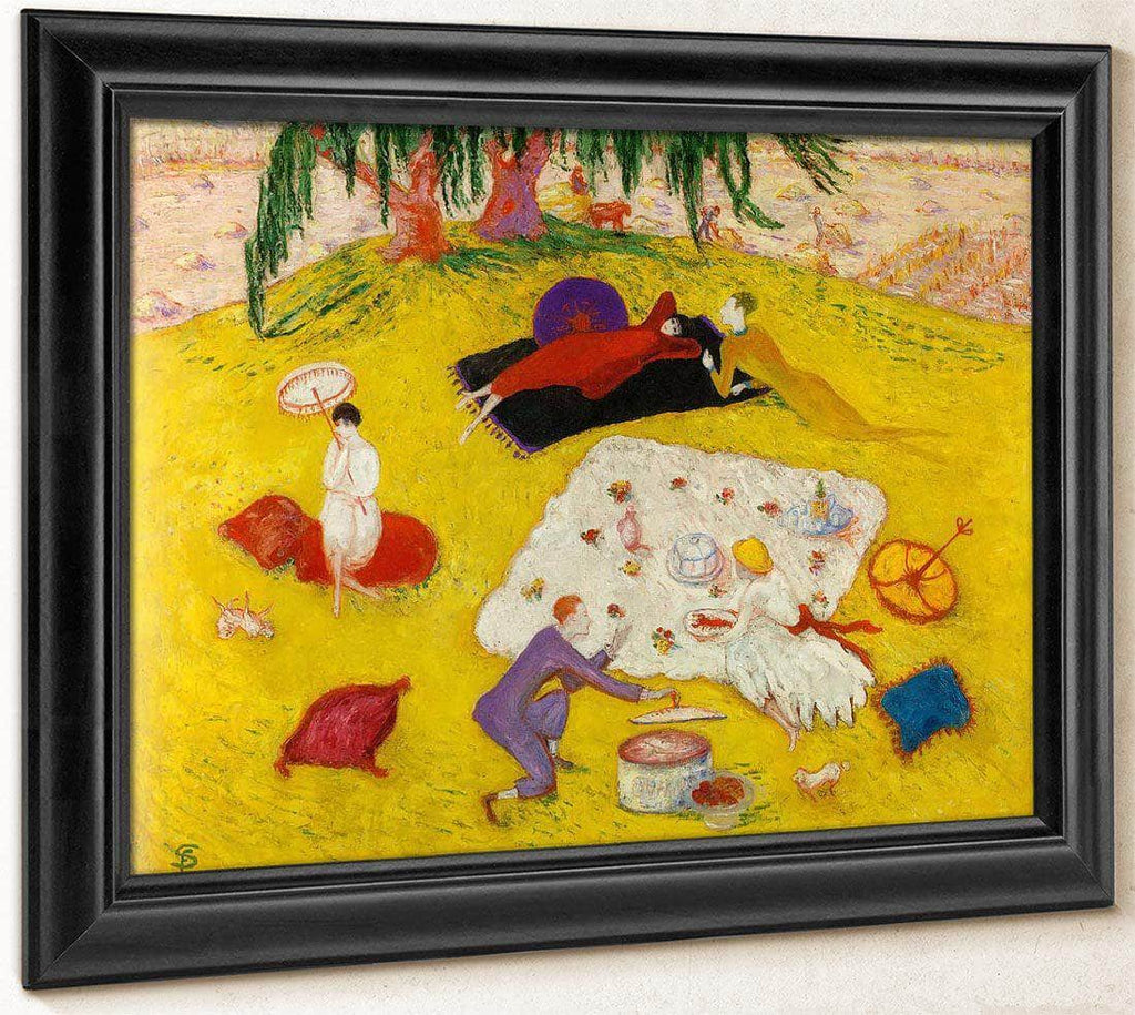 Picnic At Bedford Hills By Florine Stettheimer