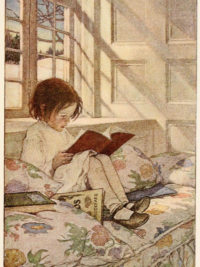 Picture Books In Winter  By Jessie Willcox Smith