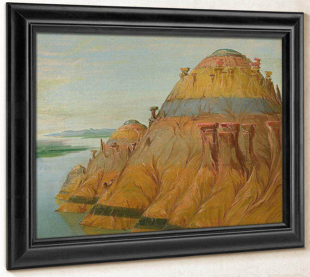 Picturesque Clay Bluff, 1700 Miles Above St. Louis' By George Catlin