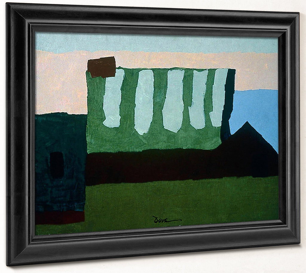 Pieces Of Red, Green, And Blue By Arthur Dove