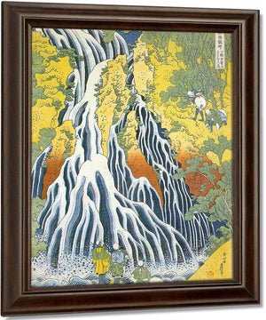 Pilgrims At Kirifuri Waterfall In Shimotsuke Province By Hokusai
