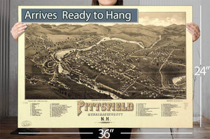 Pittsfield Merrimackcounty Nh 1884 Vintage Map