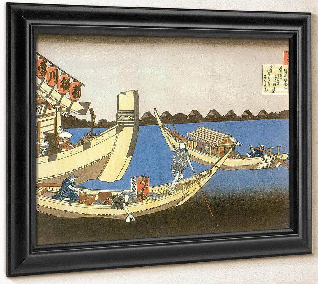 Pleasure Boats On Sumida River By Hokusai