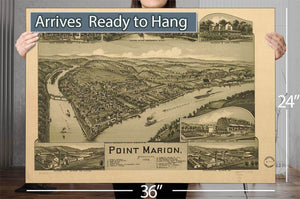 Point Marion Pennsylvania 1902 Vintage Map