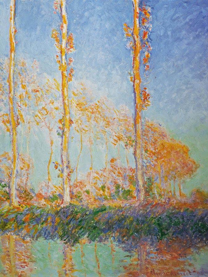 Polars By Three By Pink By Trees By In By Autumn By Claude By Monet