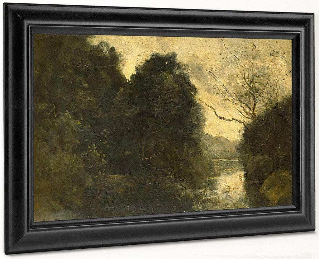 Pond In The Woods  By Camille Corot