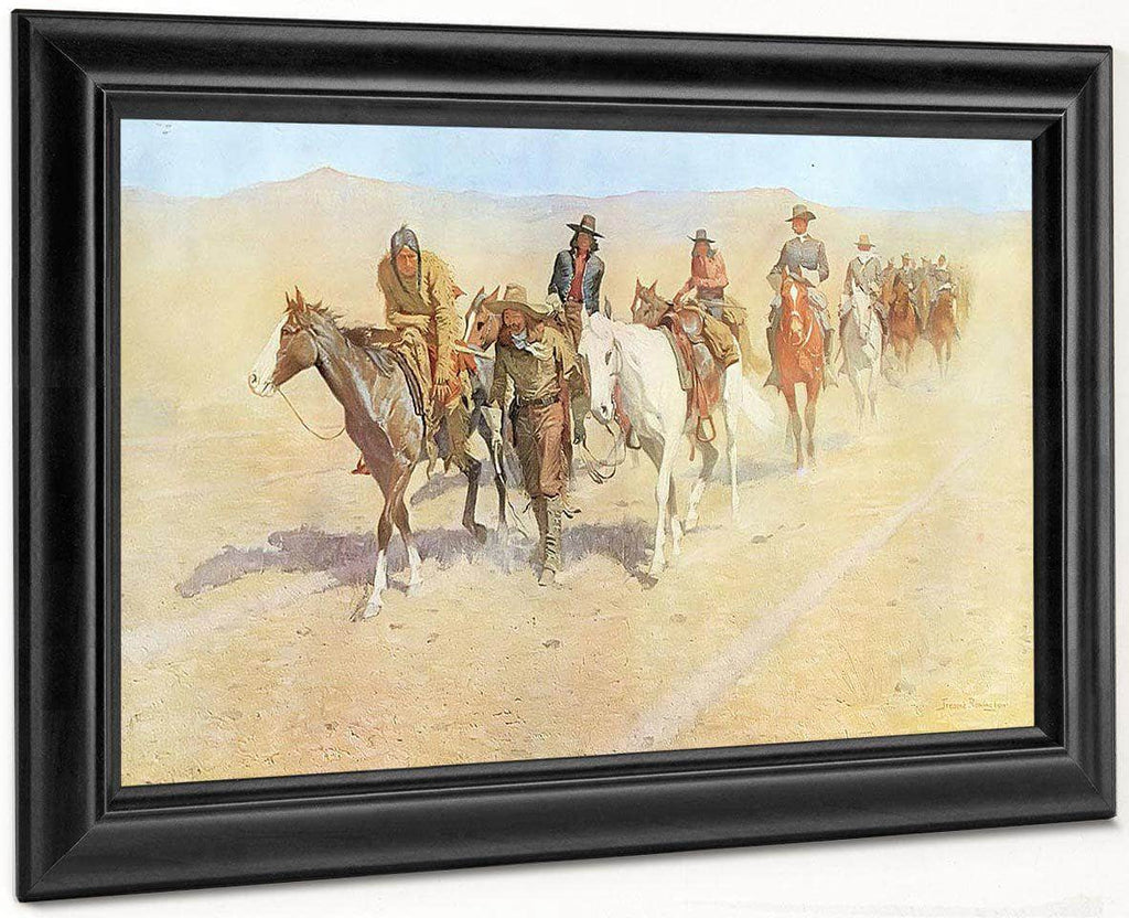 Pony Tracks In The Buffalo Trail By Frederic Remington