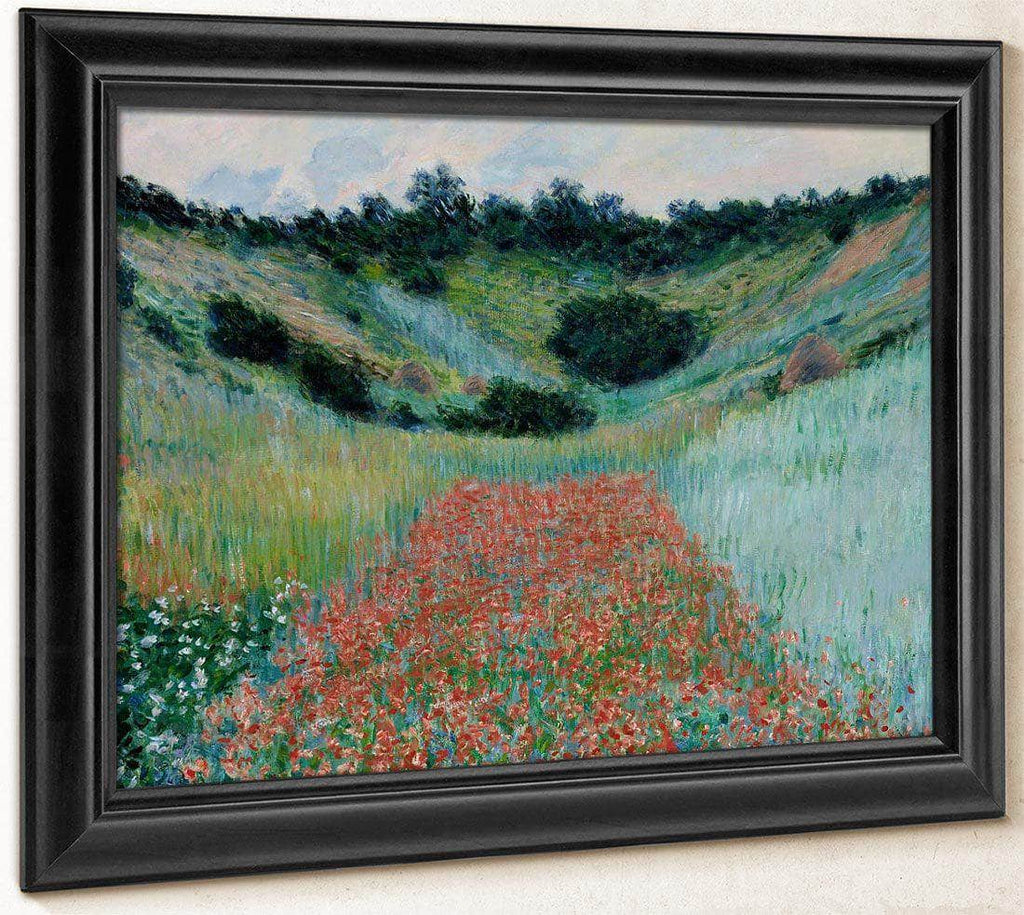 Poppy Field In A Hollow Near Giverny By Monet Claude