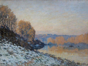 Port Marly White Frost 1872 By Alfred Sisley