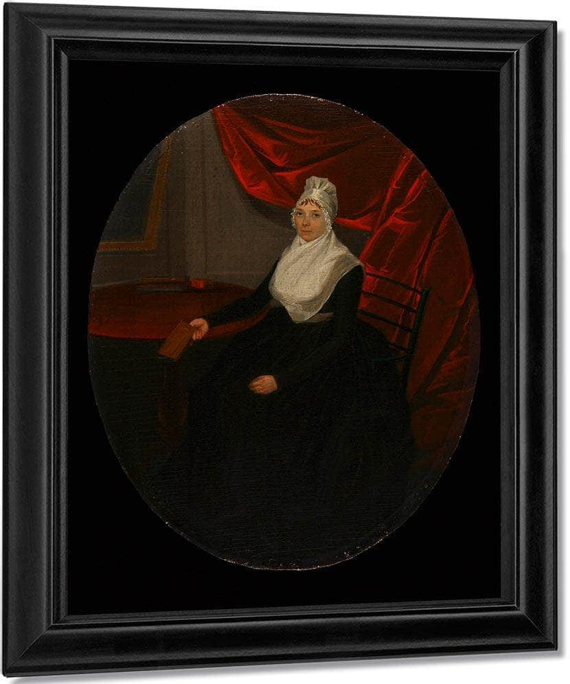 Portrait Of A Connecticut Clockmakers Wife By Ralph Earl