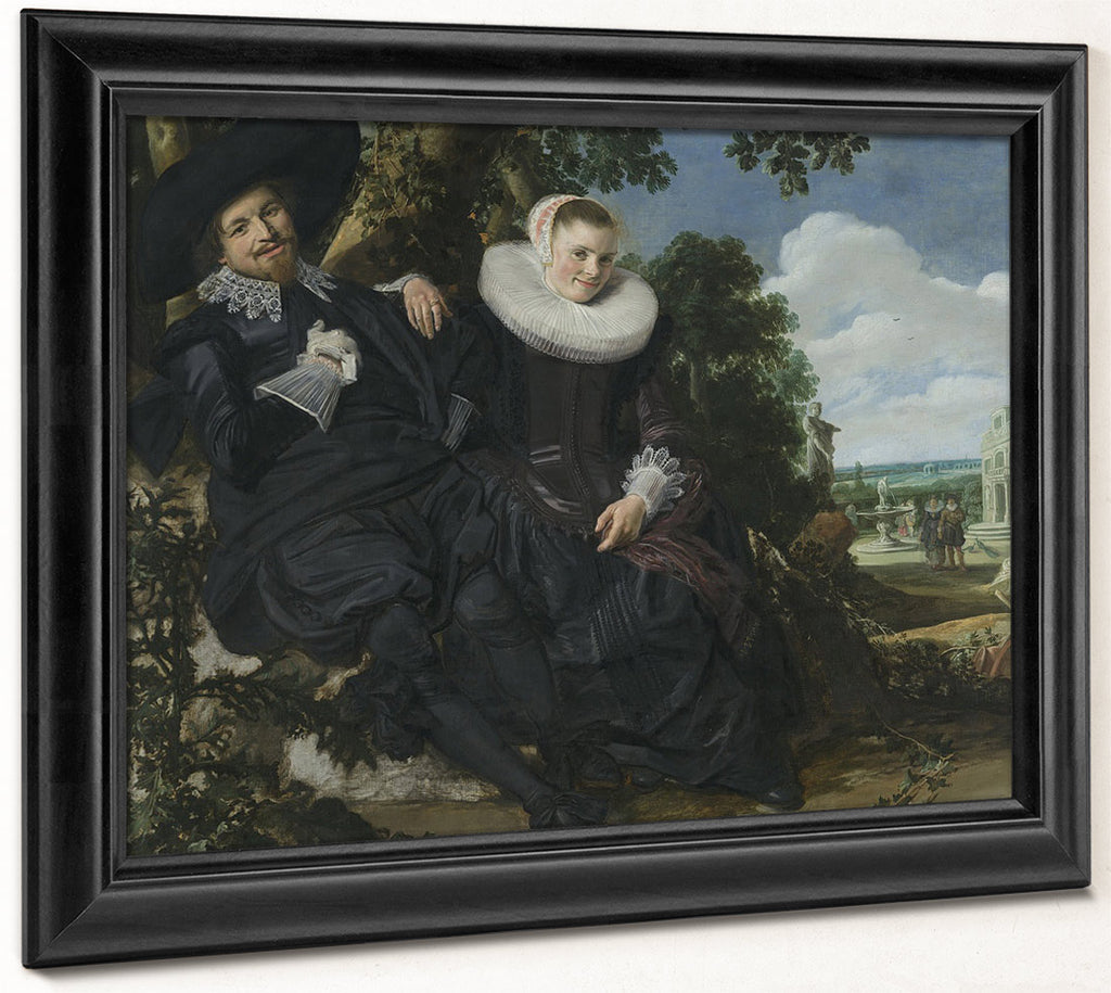 Portrait Of A Couple In A Landscape Probably Isaac Abrahamsz Massa (1586 1643) And Beatrix Van Der Laen (1592 1639) By Frans Hals