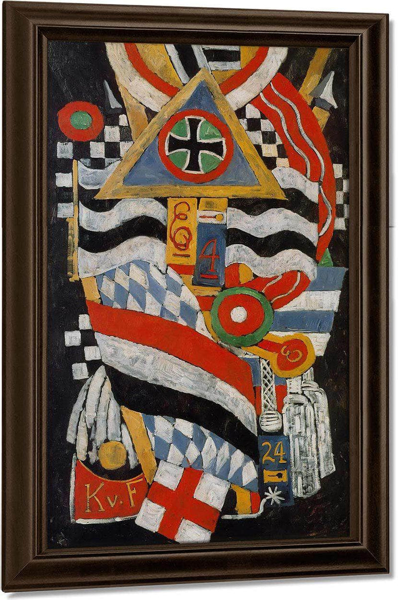 Portrait Of A German Officer By Marsden Hartley