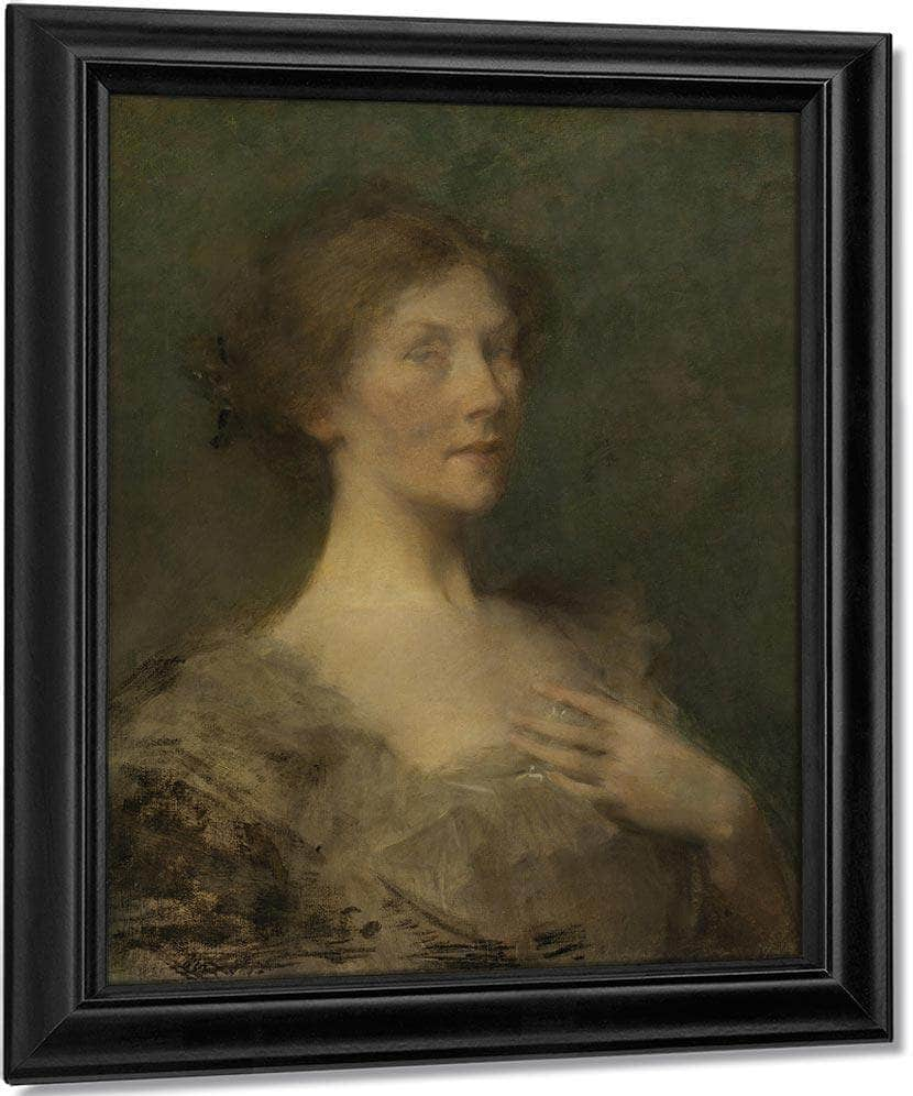 Portrait Of A Lady By Thomas Wilmer Dewing