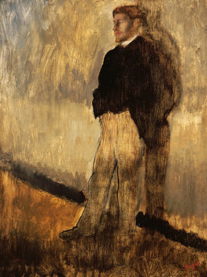 Portrait Of A Man By Edgar Degas