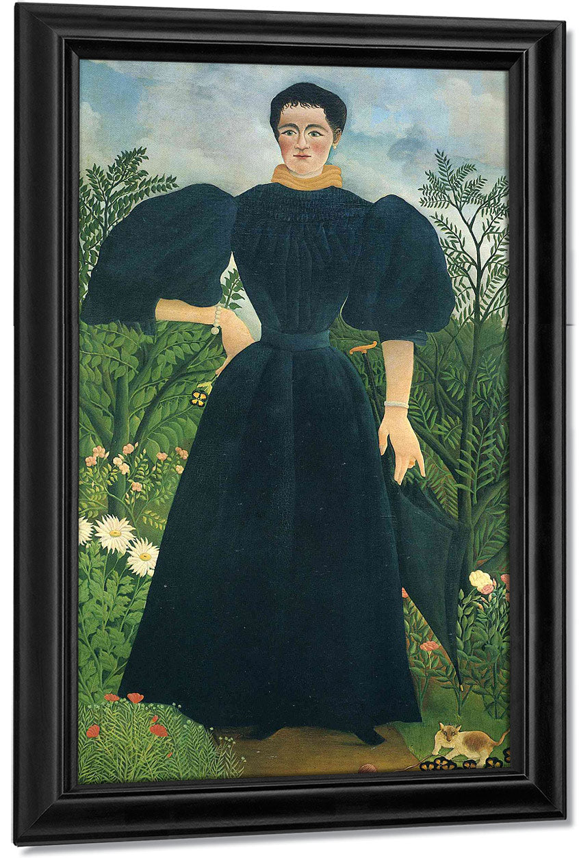 Portrait Of A Woman 1895 115X198Cm Musee Dorsay Paris By Henri Rousseau