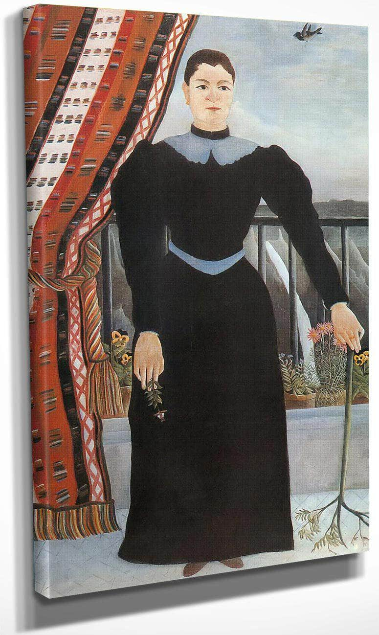 Portrait Of A Woman About 1895 Portrait De Femme By Henri Rousseau