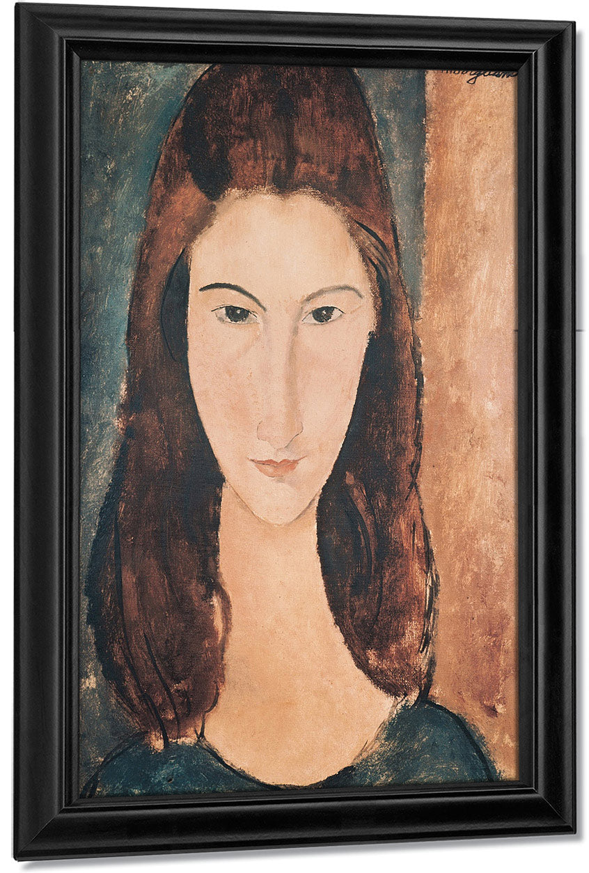Portrait Of A Young Girl (Oil On Canvas) By Amedeo Modigliani