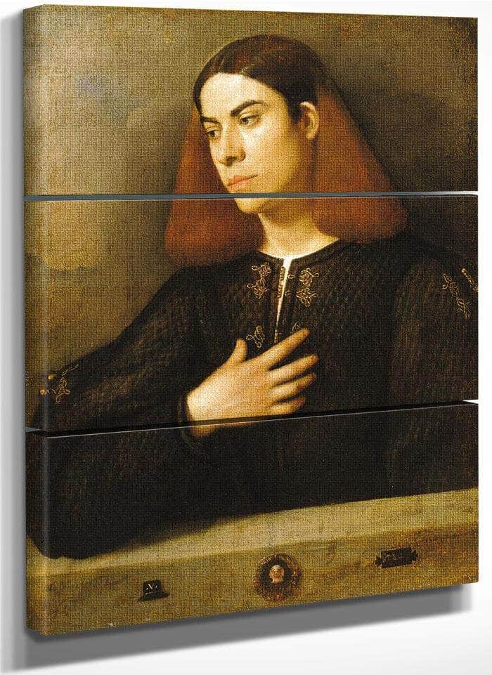 Portrait Of A Young Man 1510 By Giorgione