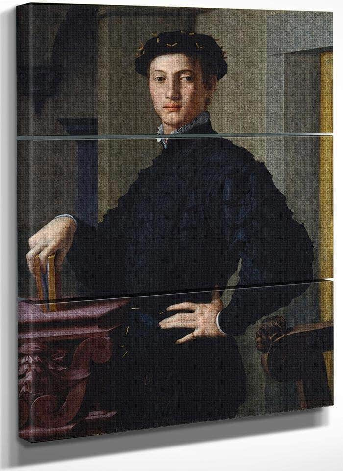 Portrait Of A Young Man 1530 Mannerism 95 6X74 9Cm Met By Agnolo Bronzino