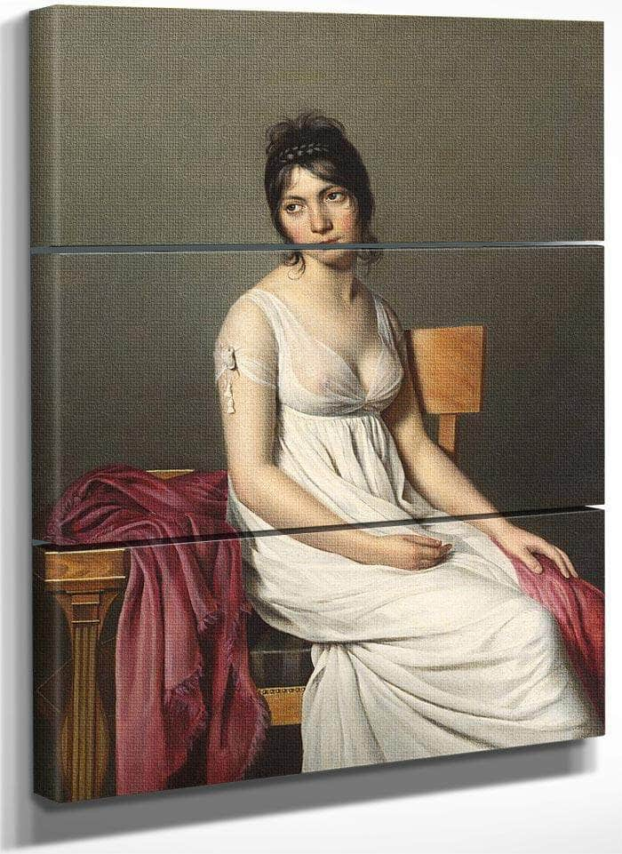 Portrait Of A Young Woman In White By Jacques Louis David