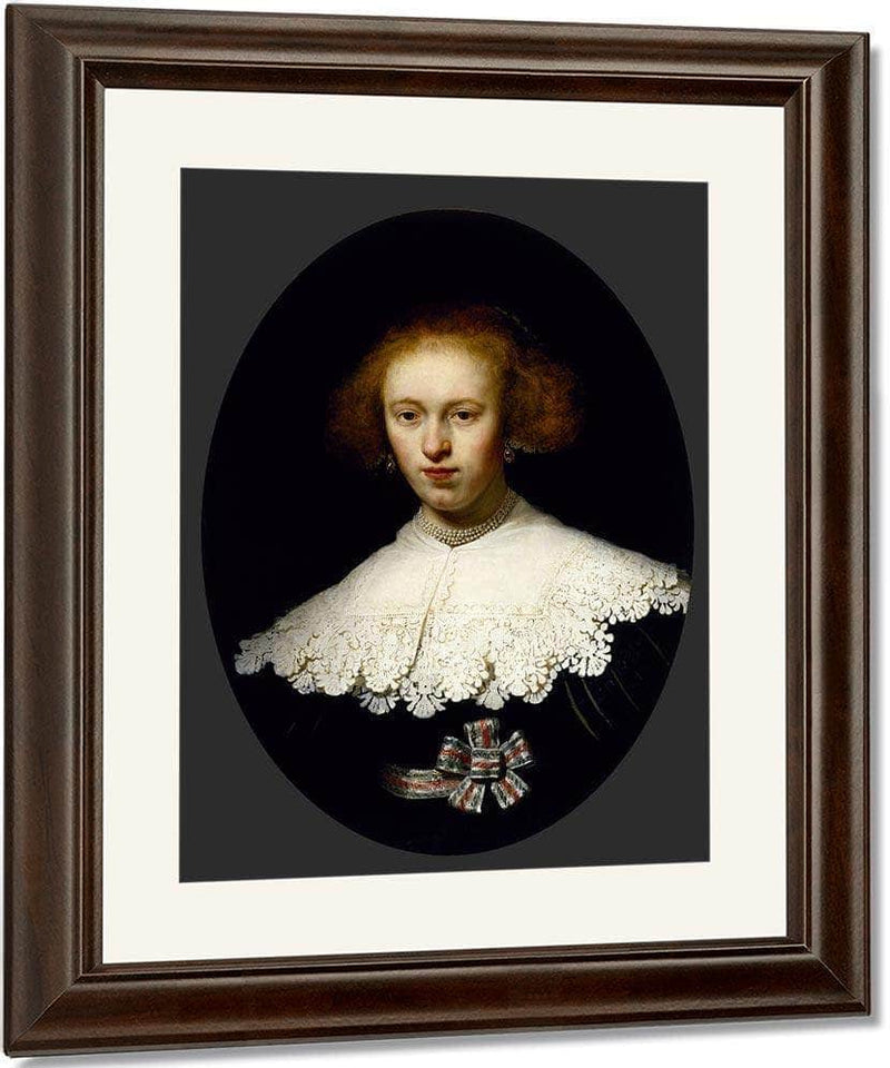 Portrait Of A Young Woman By Rembrandt